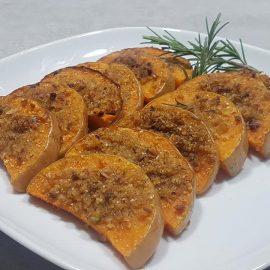 Zucca gratinata ai pistacchi