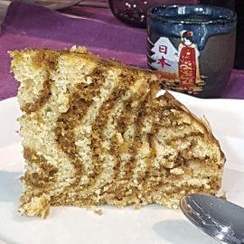 Torta zebrata al the macha