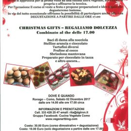 PROSSIMO CORSO DI CUCINA VEGETALE : 2 dicembre 2017